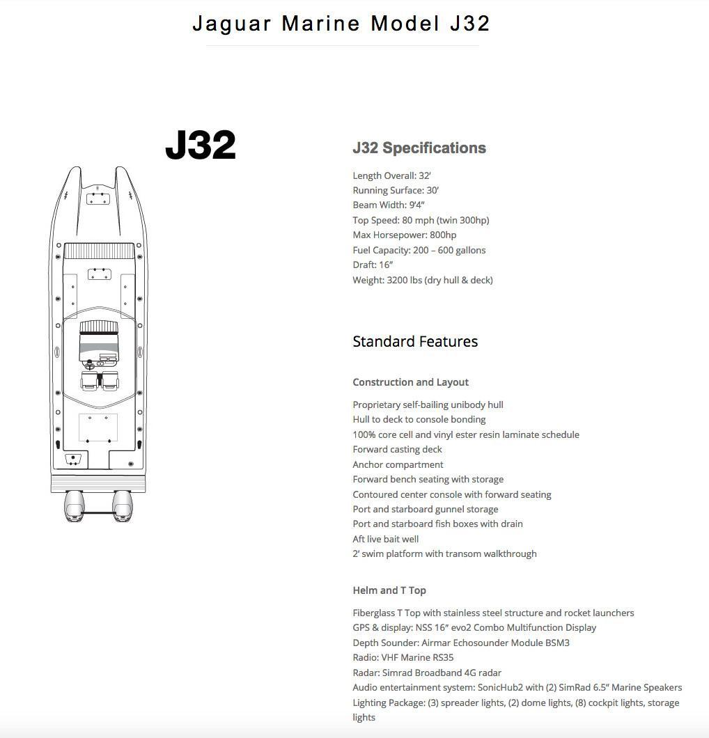 hight resolution of new jaguar j32 center console fishing boat for sale