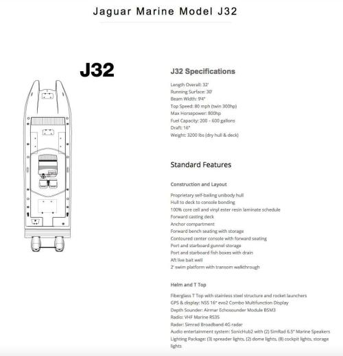 small resolution of new jaguar j32 center console fishing boat for sale