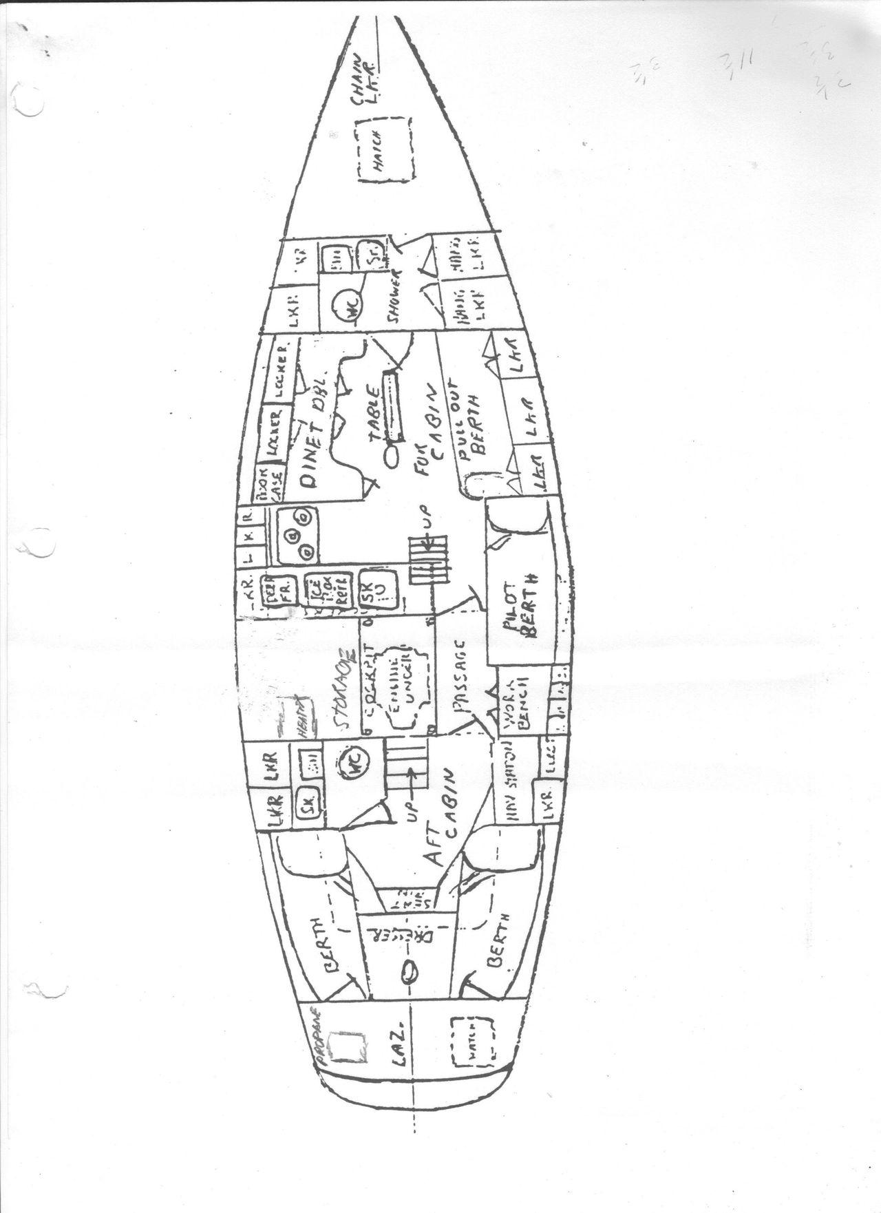 1964 Used Jon De Dood International 800 Yawl Cruiser