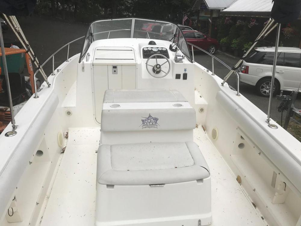 medium resolution of  used shamrock 219 walkaround center console fishing boat for sale
