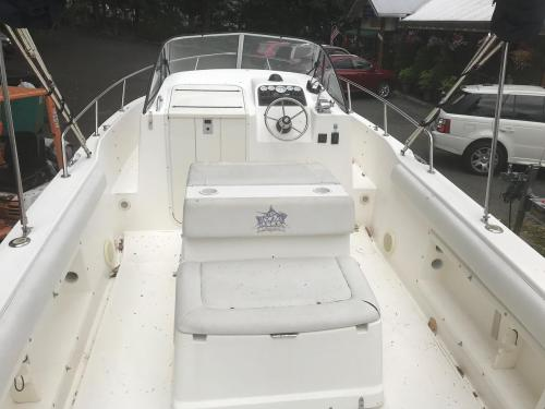 small resolution of  used shamrock 219 walkaround center console fishing boat for sale