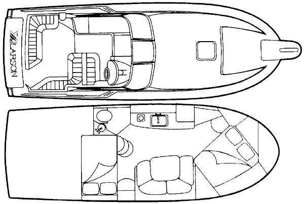 1997 Used Larson Cabrio 310 Mid-cabin Express Cruiser Boat