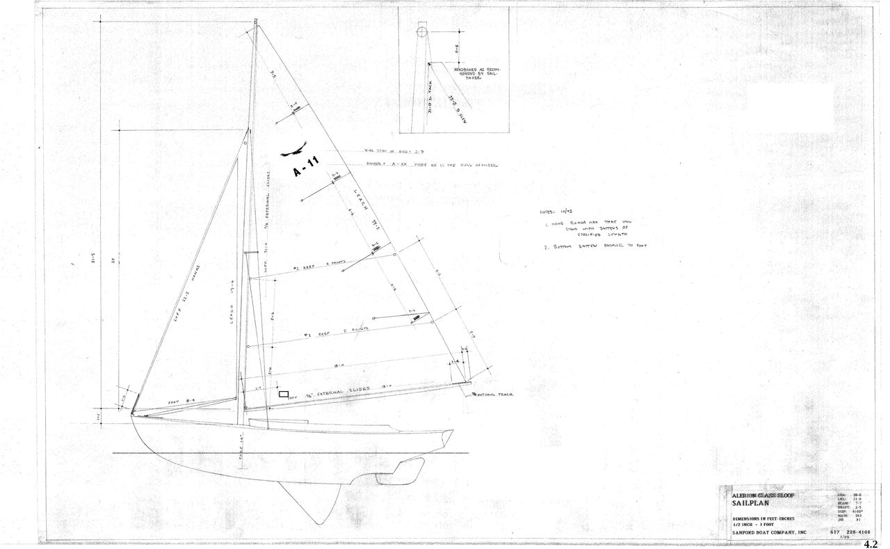 hight resolution of  new brooklin boat yard alerion class sloop daysailer sailboat for sale