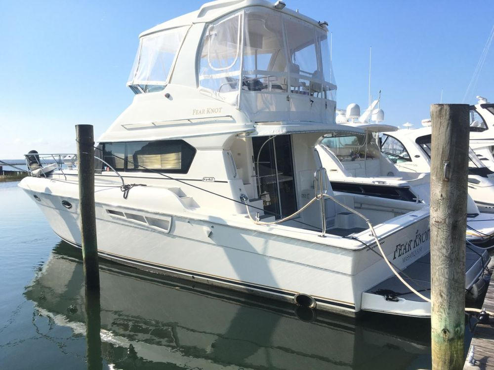 medium resolution of used silverton 42 convertible fishing boat for sale
