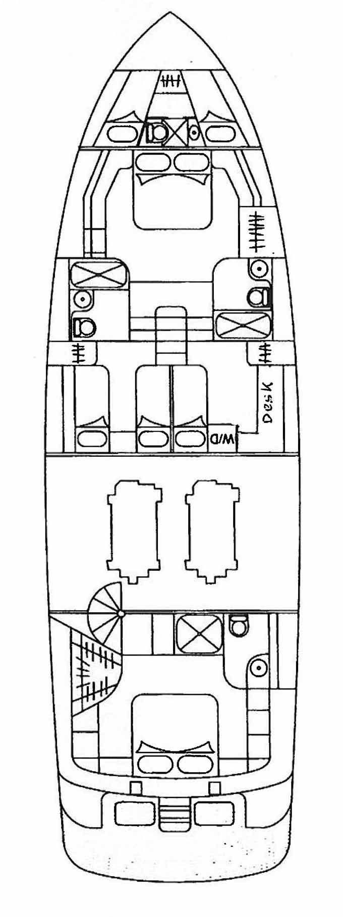 1993 Used Johnson Flybridge Motoryacht W/extension Motor