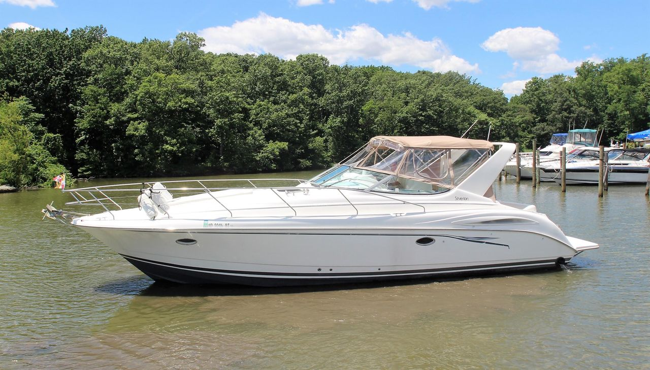 hight resolution of used silverton 360 express cruiser boat for sale