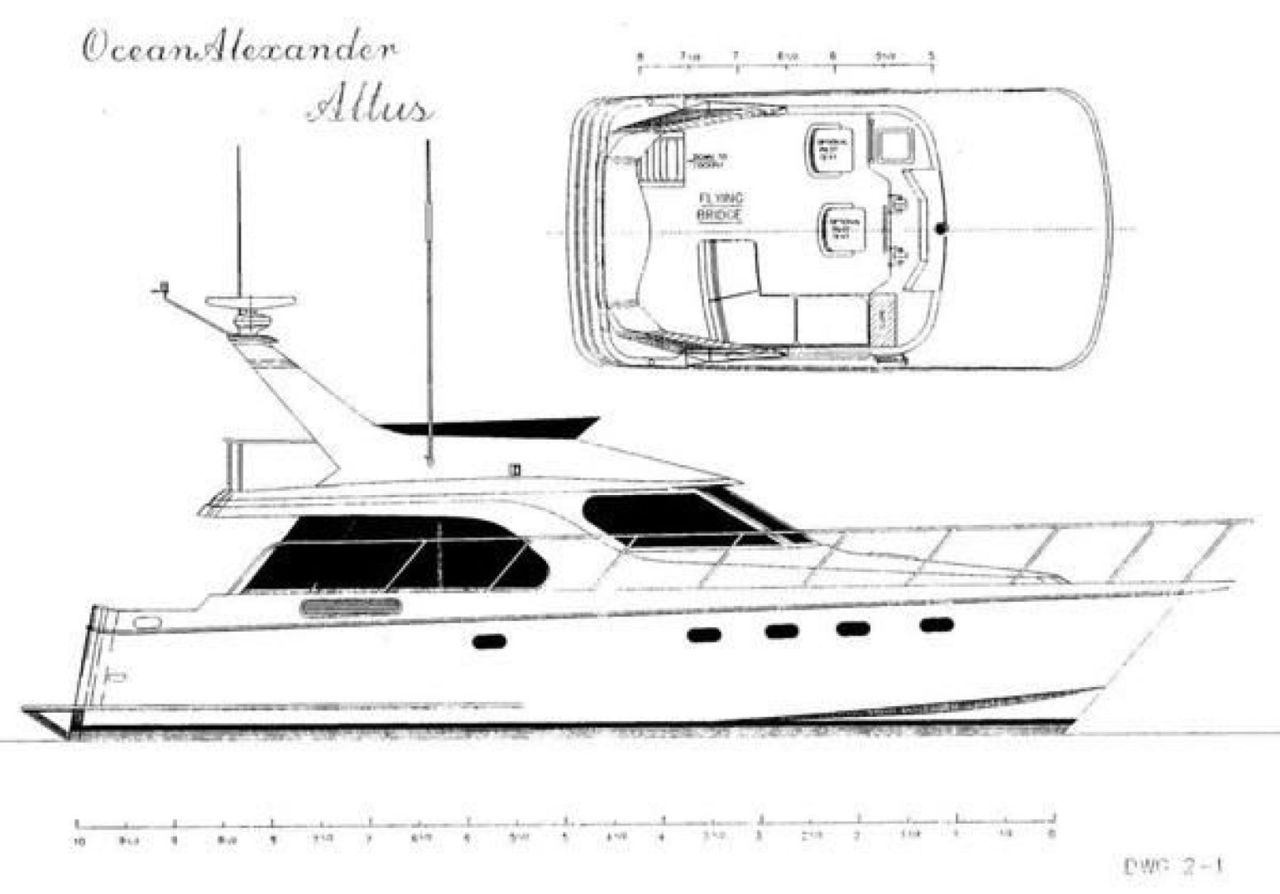 2005 Used Ocean Alexander Altus 42 Motor Yacht For Sale