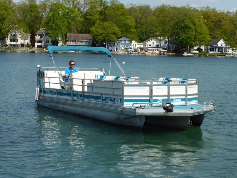 1995 Used Jc Pontoon 266 HD Tritoon Pontoon Boat For Sale