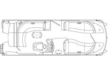 2012 New Harris Flotebote Crowne 250 Pontoon Boat For Sale