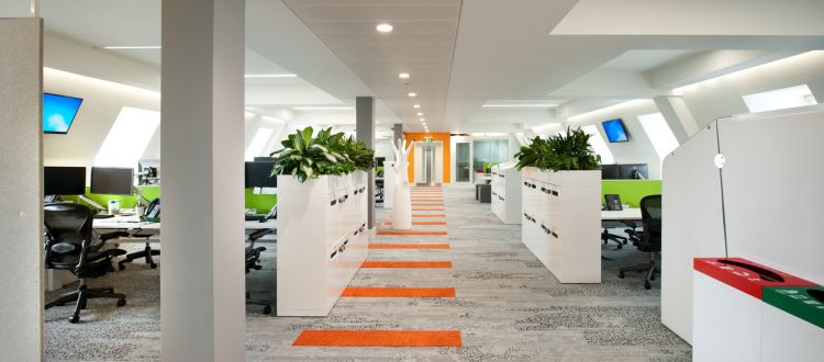 Inside eBay's London Office Design and Fit Out