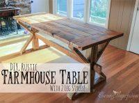 40 DIY Farmhouse Table Plans & Ideas for Your Dining Room ...