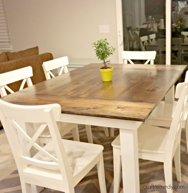 build kitchen table wall shelving units 40 diy farmhouse plans ideas for your dining room free the simple white