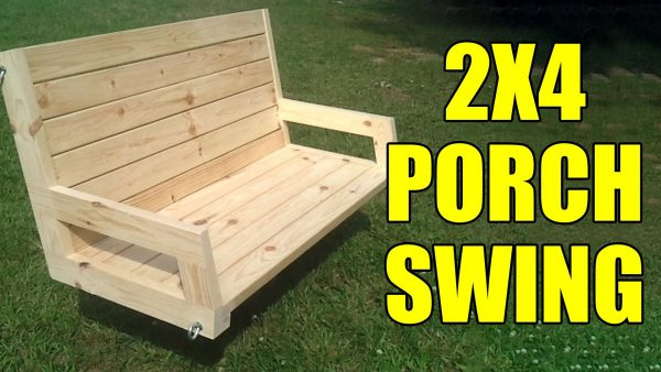 swing chair home town outside lifts 23 free diy porch plans ideas to chill in your front 2x4