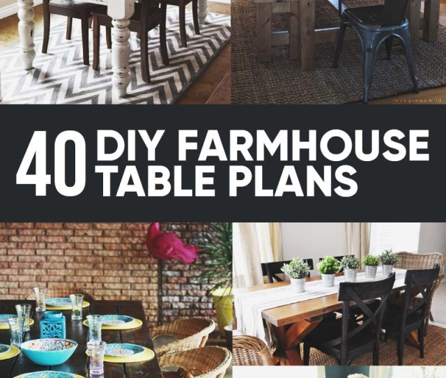 Free Diy Farmhouse Table Plans To Give The Rustic Feel To Your Dining Room
