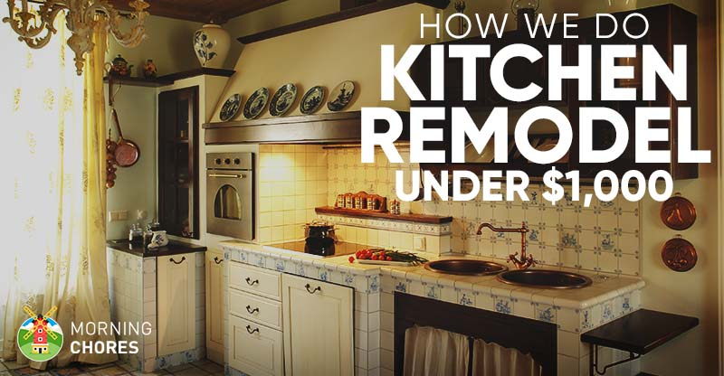 how to remodel a kitchen bamboo cabinets diy ideas we do it for under 1 000