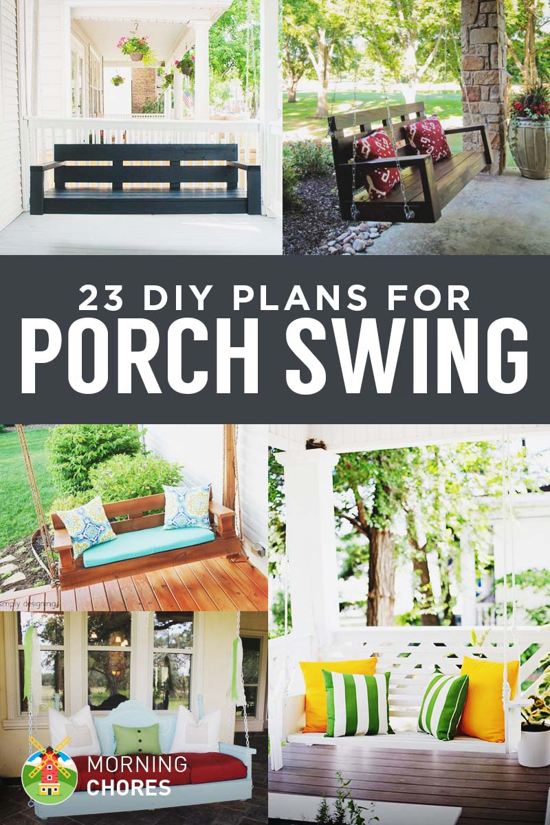 swing chair home town egg pod speaker 23 free diy porch plans ideas to chill in your front