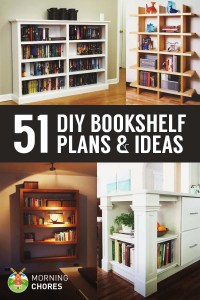 51 DIY Bookshelf Plans & Ideas to Organize Your Precious Books