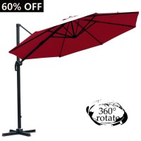 Farland Patio 11-Foot Offset Cantilever Umbrella Hanging ...
