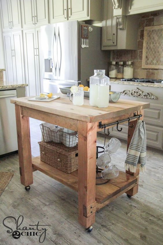 simple kitchen island moen banbury faucet 25 gorgeous diy islands to make your run smoothly the shanty chic