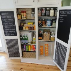 How To Add A Pantry Your Kitchen Valances For Kitchens 30 Unique Ideas Make Efficient Great Way Stay Organized Is Chalkboards Doors One Chalkboard Grocery List So You Can Write Down What Re Running Out Of