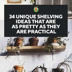 Diy Shelves In Living Room The La Jolla California 34 Shelving Ideas That Are As Pretty They Practical Have You Ever Tried Making Your Own Do Think Would Be Building One Of These Gorgeous For Decorative Or Storage Purposes