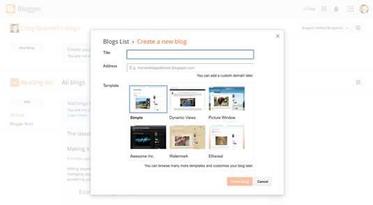 Best blogging platforms: Blogger