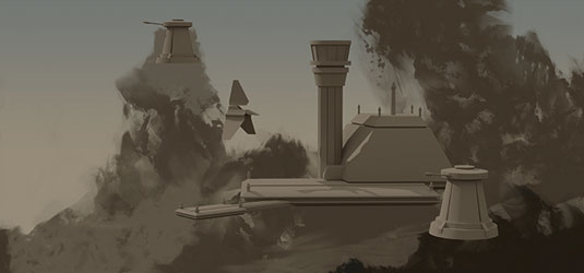 How to illustrate a Star Wars-inspired environment