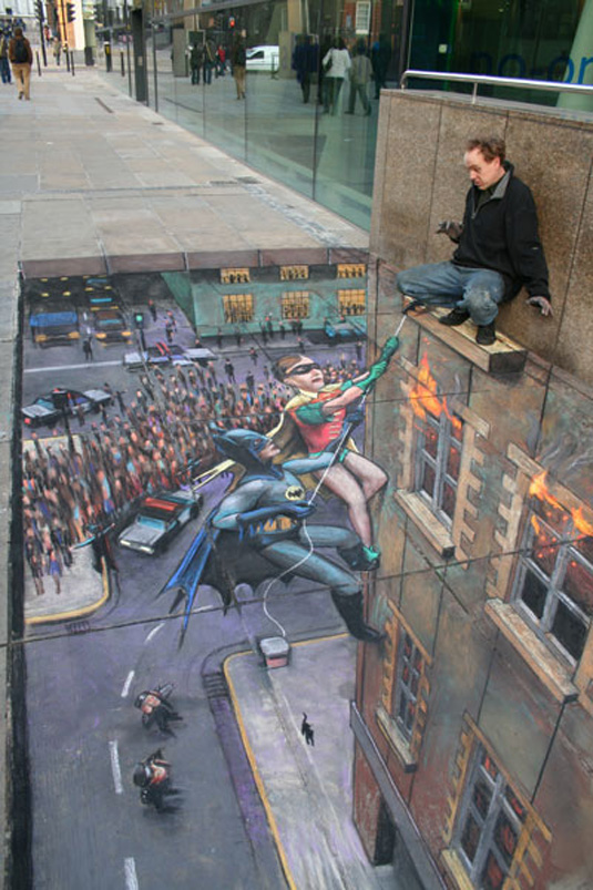 examples of street art: Julian Beever