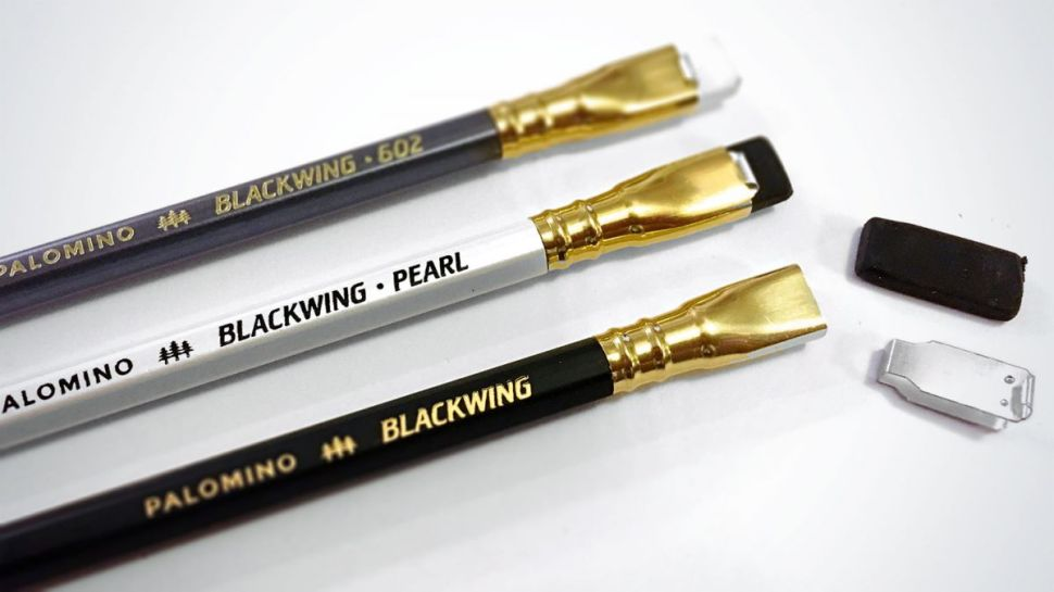 Three Palomino Blackwing pencils