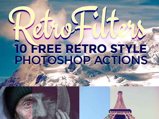 Free Photoshop actions RetroFilters
