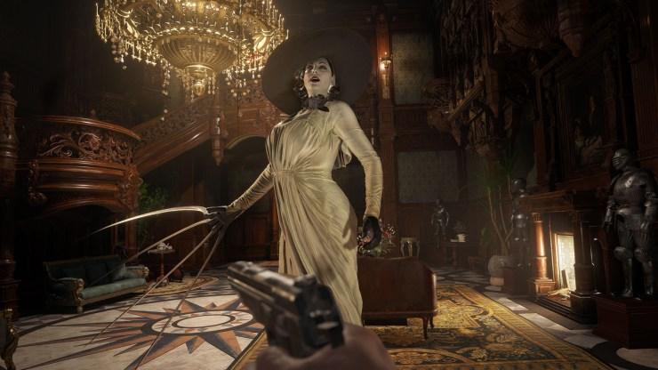 Resident Evil Village horror gótico castillo Lady Alcina cuatro lords villanos horror dimitrescu moreau heisenberg