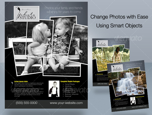 Eyecatching Flyer Templates Rum Raisin - Photography brochure template