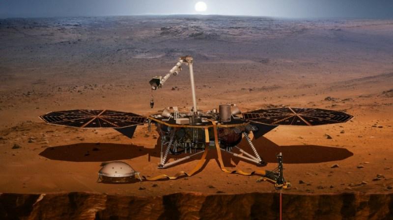 Artist's impression of InSight Mars lander