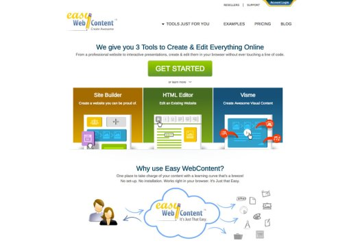 Choose a website builder: Easy WebContent