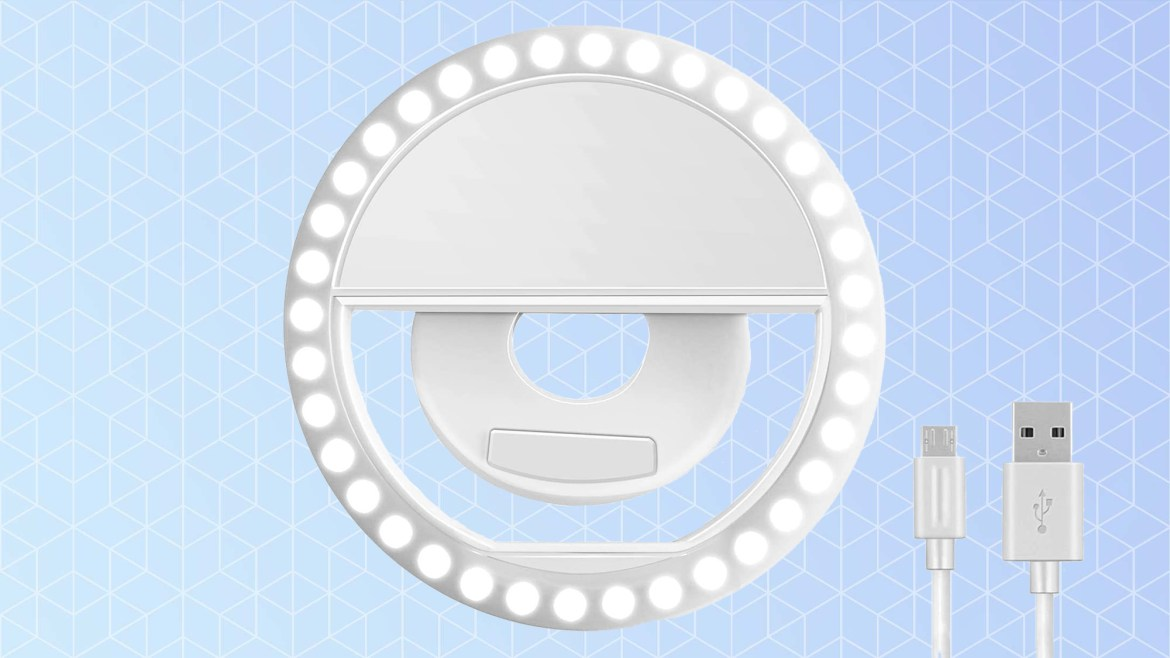 Best ring lights: XINBAOHONG Rechargeable Portable Clip-on Selfie Ring Light