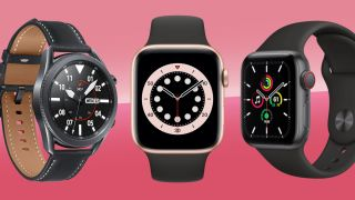 Three of the best smartwatches: Samsung Galaxy Watch 3, Apple Watch 6 and Apple Watch 3
