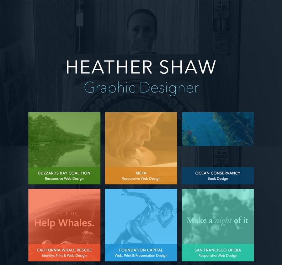 Graphic design portfolio - Heather Shaw