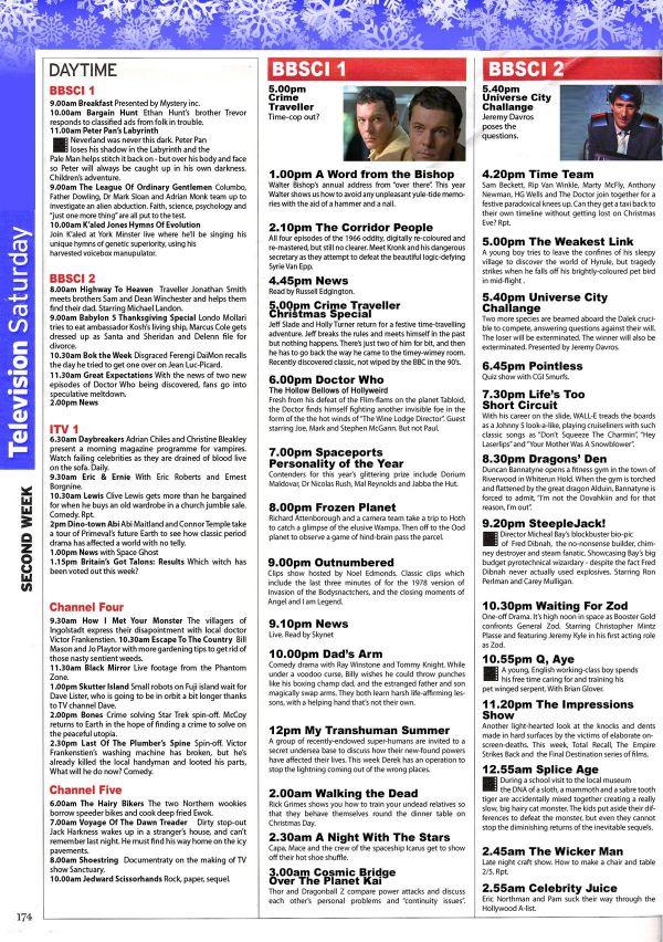 BLOG The Alternative Christmas TV Guide GamesRadar