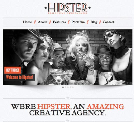 Portfolio WordPress theme - Hipster