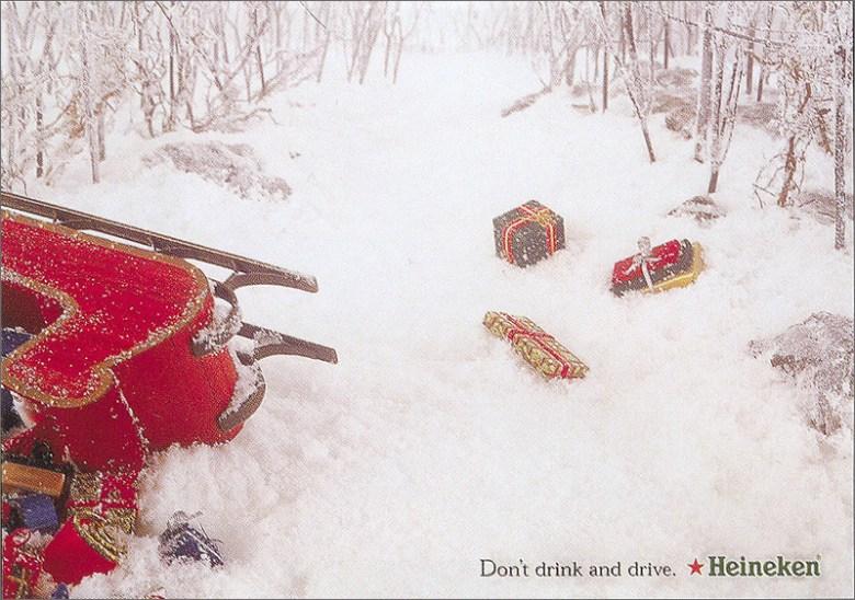 Best Christmas alcohol adverts: Heineken don't drink drive