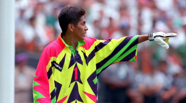 "Jorge Campos: ""I once heard a story that the coach thought about playing me  up front at USA '94..."" 