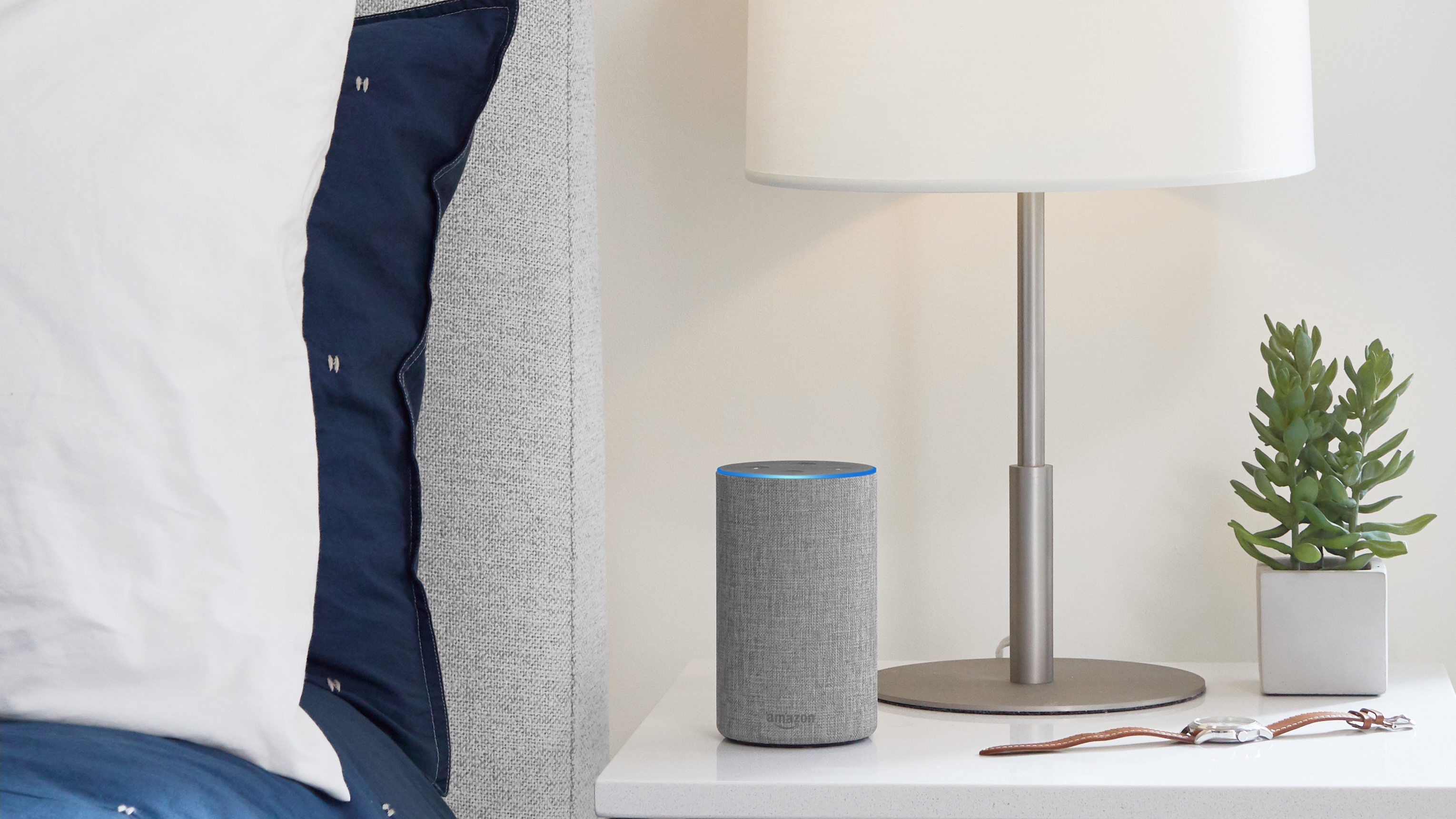 A still of the Amazon Echo smart speaker
