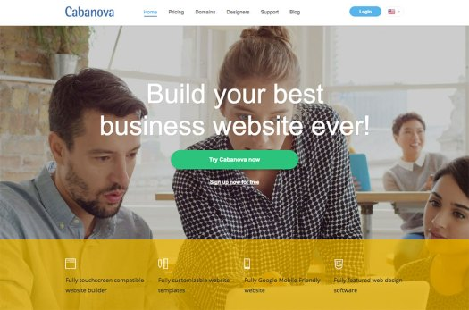 Choose a website builder: Cabanova