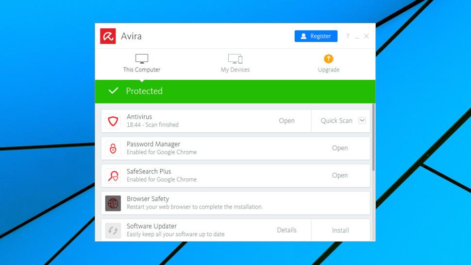 Avira Free Antivirus features