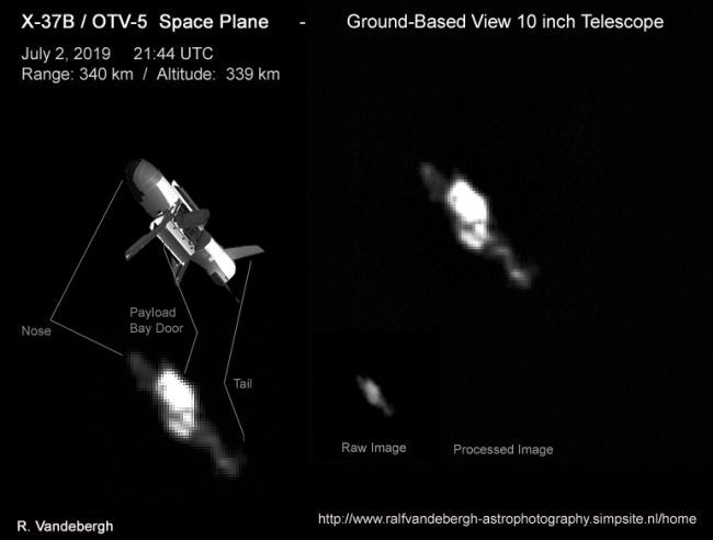 Mysterious X-37B Military Space Plane Caught on Camera (Photo)