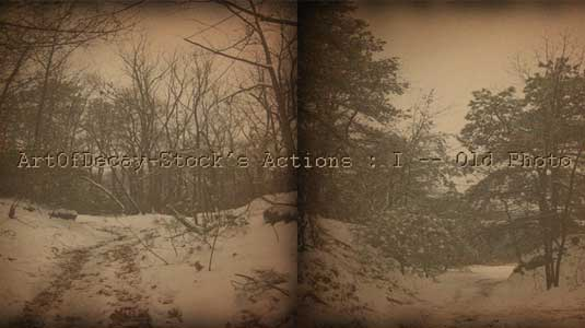 Free Photoshop actions: Art of Decay