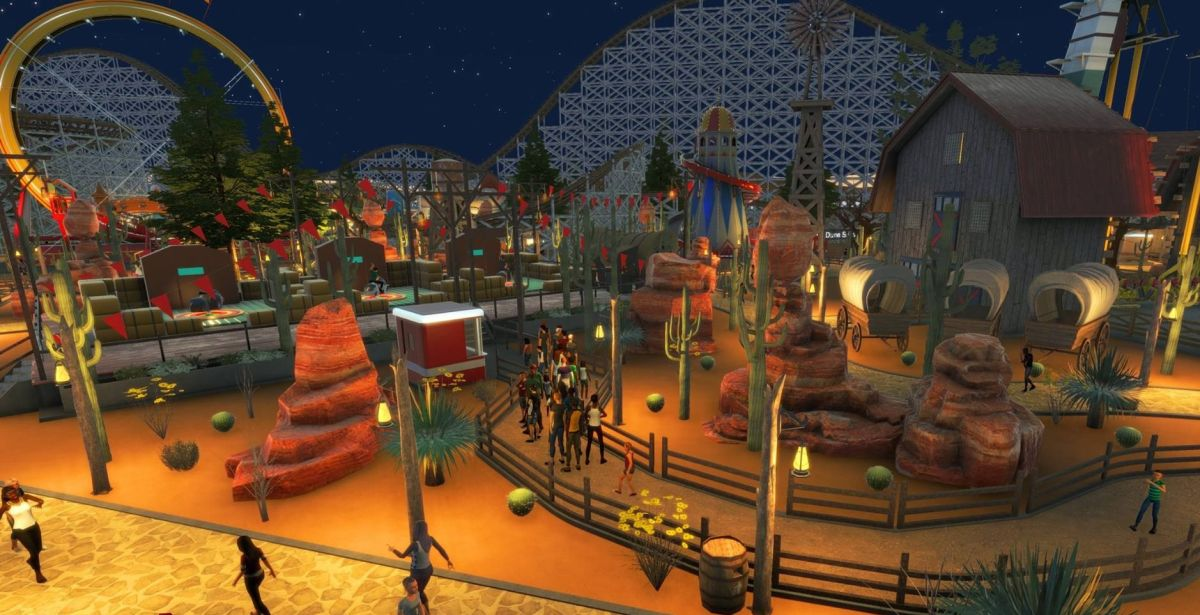 Rollercoaster Tycoon World Video Showcases DIY Theme Park