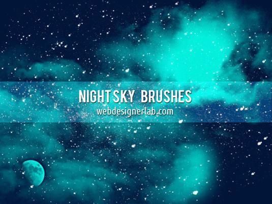 free Photoshop brushes:night sky