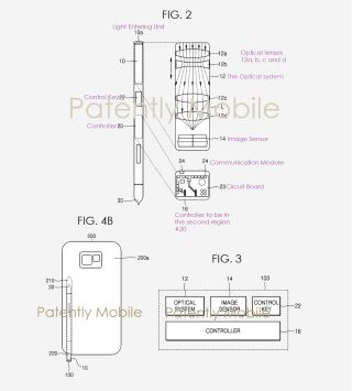 Samsung patents S Pen featuring built-in camera with