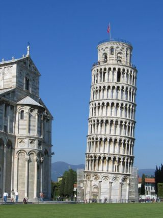 Famous buildings: The Leaning Tower of Pisa